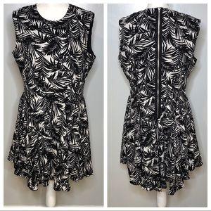 H&M Floral Dress with Zipper Back